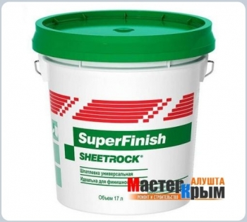 Шпатлевка готовая SHEETROCK SuperFinish 17 л