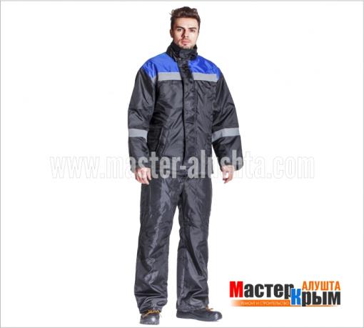 Куртка ут. Гастарбайтер-Анталекс черн/вас 100% ПЭ 2-слойный синтепон