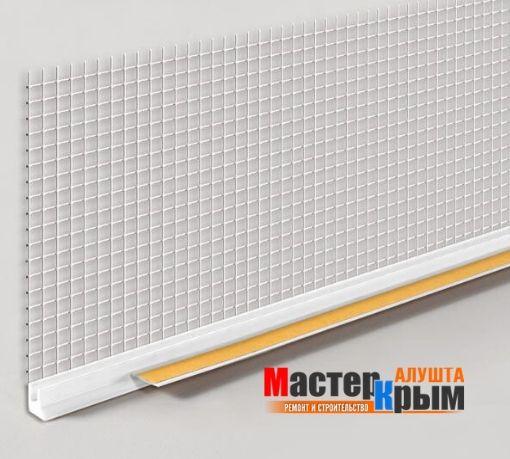 Профиль примыкающий оконный ПВХ с сеткой 2,4 м