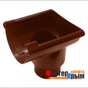 Вод воронка желоба торцевая коричневая