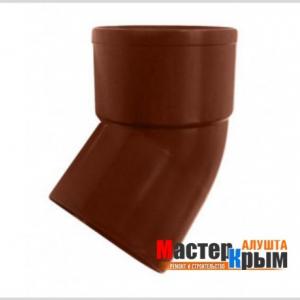Вод колено трубы 45/100 коричневое