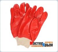 Перчатки масло-бензостойкие красные
