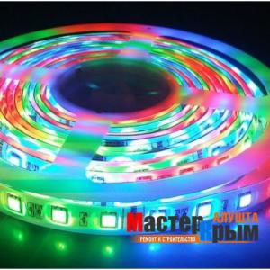 Светодиодная лента  IP20 14,4 Вт/м 5м RGB
