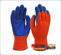 Перчатки нейлоновые син/оранж