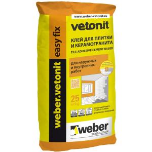 Клей для плитки Ветонит easy fix 25 кг