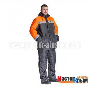 Куртка ут. Гастарбайтер-Анталексчерн/оранж 100% ПЭ 2-слойный синтепон